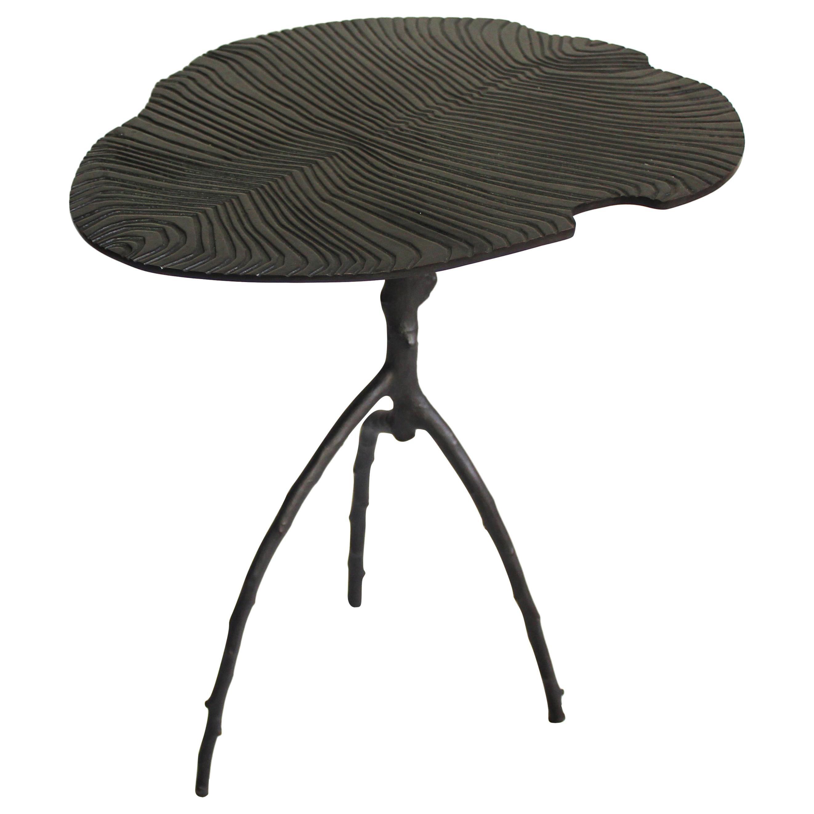 Black Dickinsonia Low Table in Bronze in Stock