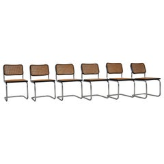 Black Dinning Style Chairs B32 by Marcel Breuer, 1980s
