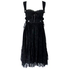 Black Dolce & Gabbana Corset Lace Evening Cocktail Dress