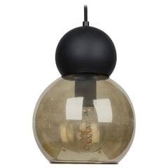 Black Double Bubble Light Fixture