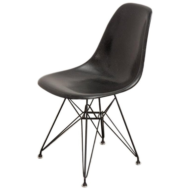 Black Eames for Herman Miller Shell Chair on Eiffel Base For Sale