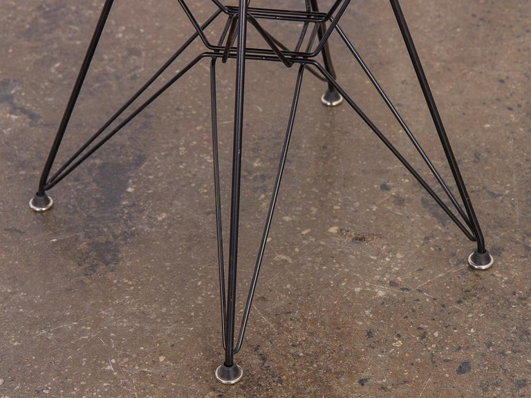 Black Eames Wire Chair with Bikini Cover on Eiffel Base For Sale 2