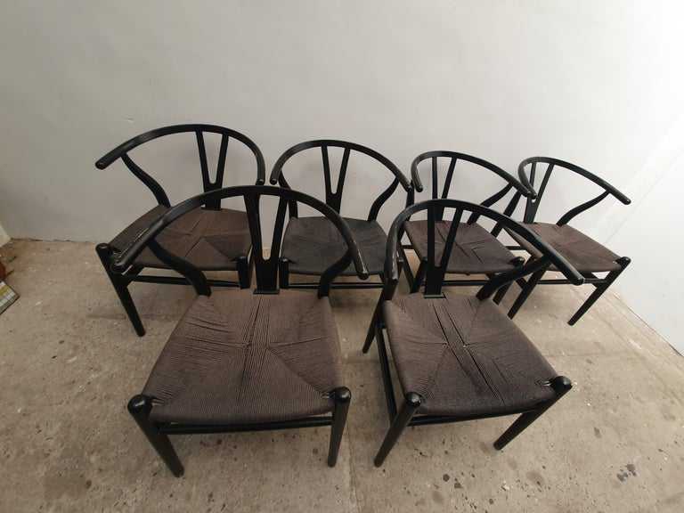 Black Edition Wishbone Chair CH24, 1980s 6