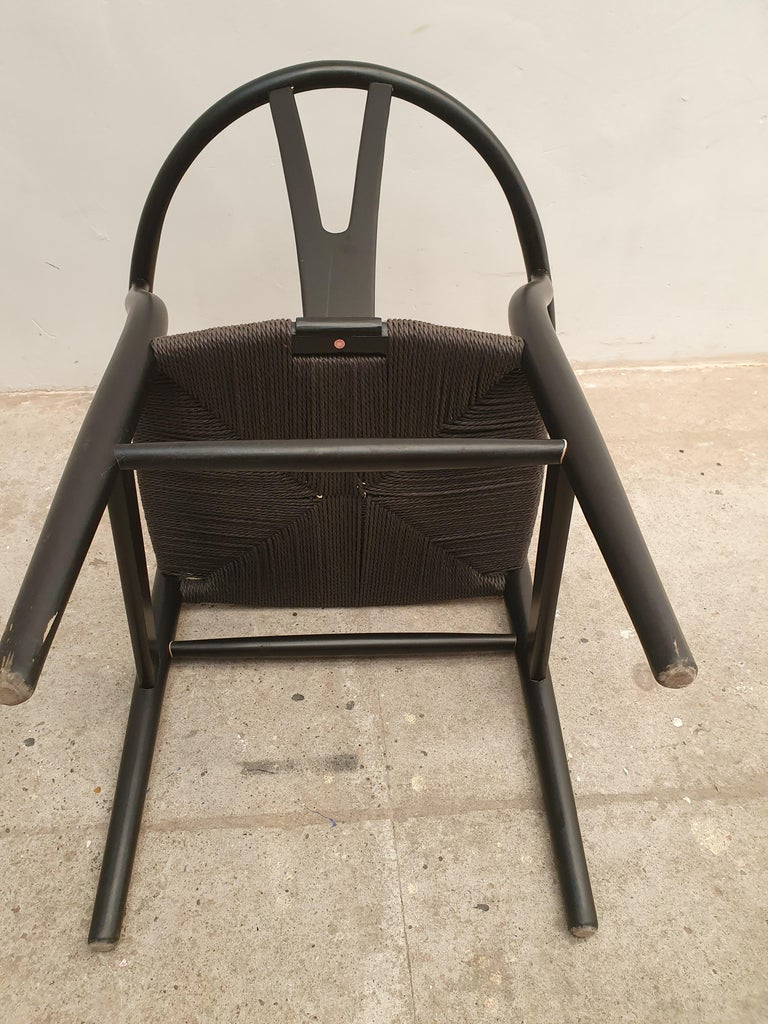 Black Edition Wishbone Chair CH24, 1980s 9
