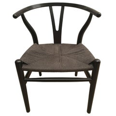 Black Edition Wishbone Chair CH24, 1980s
