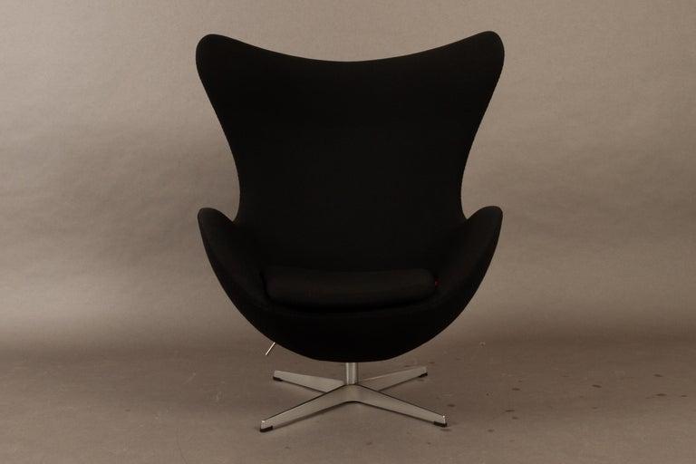 Danish Black Egg Chair 3316 by Arne Jacobsen for Fritz Hansen, 2007