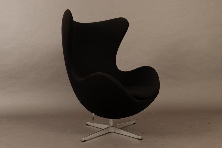 Black Egg Chair 3316 by Arne Jacobsen for Fritz Hansen, 2007 In Excellent Condition In Nibe, Nordjylland