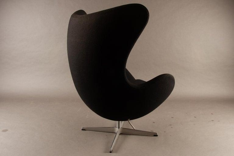 Wool Black Egg Chair 3316 by Arne Jacobsen for Fritz Hansen, 2007