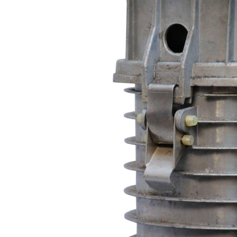 20th Century Black Enamel Dutch Design Vintage Industrial Cast Aluminum Pendant Light For Sale
