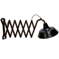 Black Enamel Extra Large Iron Scissor Wall Lamps