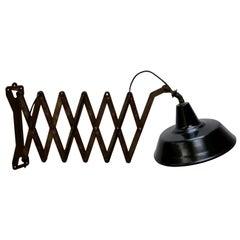 Black Enamel Extra Large Iron Scissor Wall Lamps