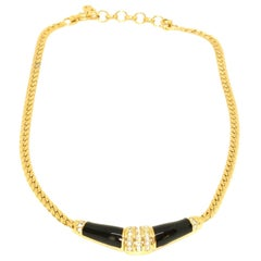 Black Enamel Necklace by Christian Dior