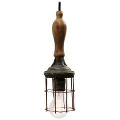 Wooden Vintage Industrial Work Light