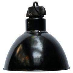 Black Enamel Vintage Industrial Bauhaus, 1930s Pendant Lights
