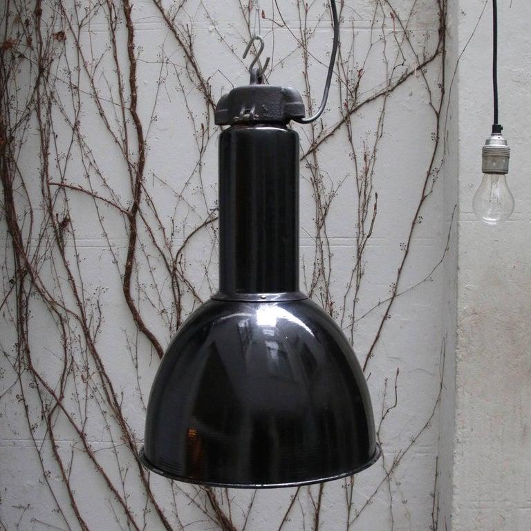 Cast Black Enamel Vintage Industrial Bauhaus Classic 1930s For Sale