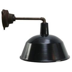 Black Enamel Vintage Industrial Cast Iron Factory Scones Wall Lights