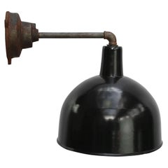 Black Enamel Vintage Industrial Cast Iron Wall Light Scones