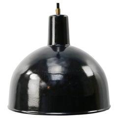 Black Enamel Vintage Industrial Factory Hanging Lights Pendants