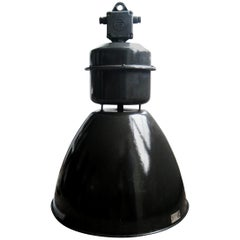 Black Enamel Vintage Industrial Factory Pendant Lights