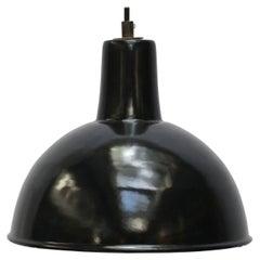 Black Enamel Vintage Industrial Factory Pendants Hanging Lights