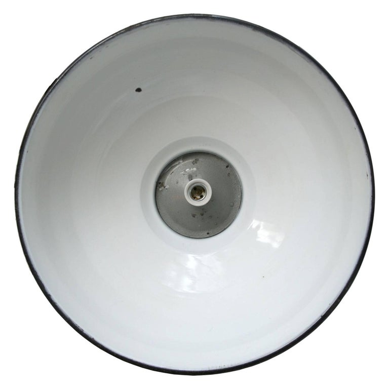 Dutch Black Enamel Vintage Industrial Iron Scissor Pendant Lights  For Sale
