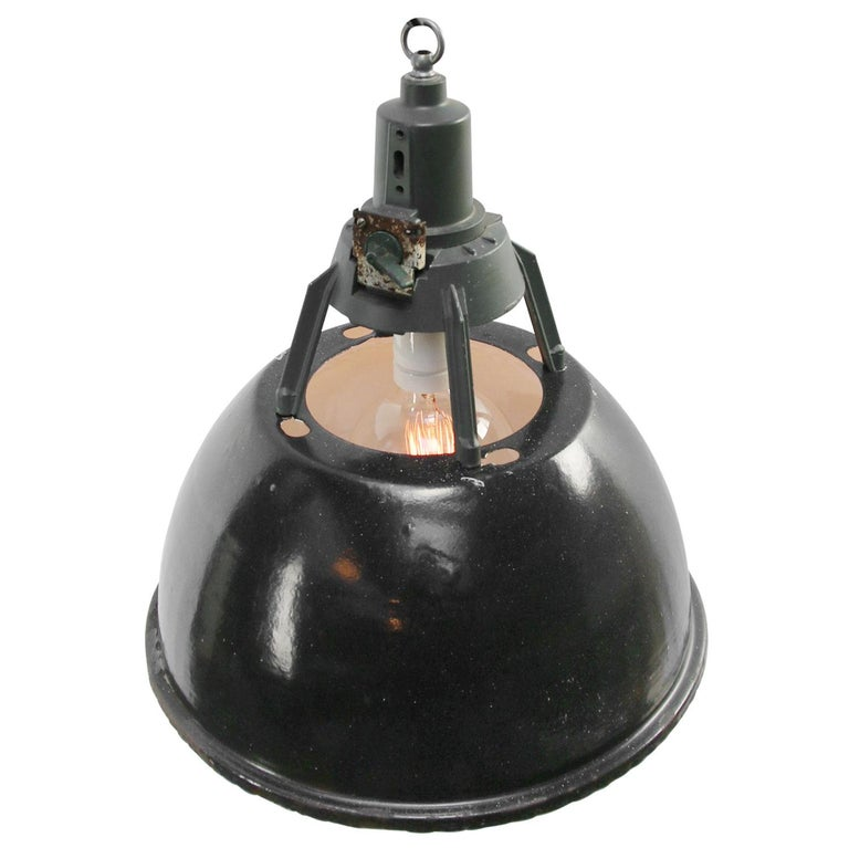 Enamel Industrial pendant.