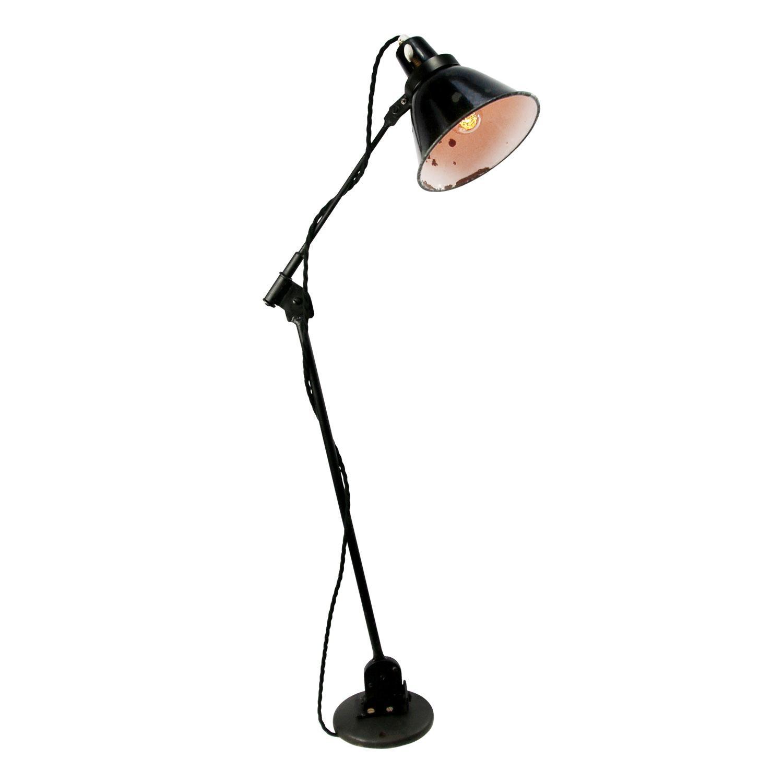 Black Enamel Vintage Industrial Work Desk Light