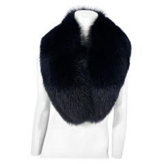 Black Enlarged Fox Collar/Stole
