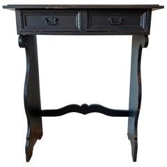 Black European Entryway Console Table