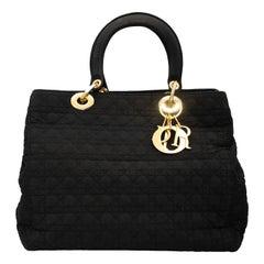 Black Fabric Dior Handbag