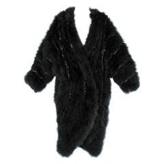 Black feather coat Chantal Thomass
