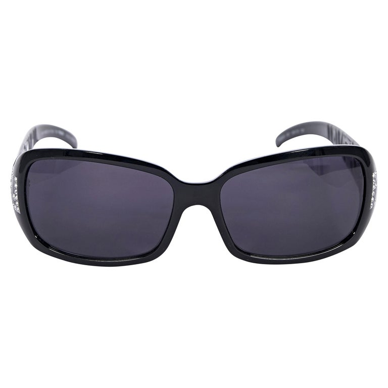Fendi Black Rectangular Sunglasses
