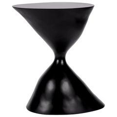 Black Fiberglass Side Table, Verter Turroni