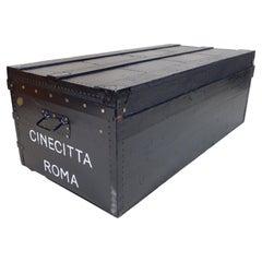 Black Flat Top Trunk Cinecitta Roma