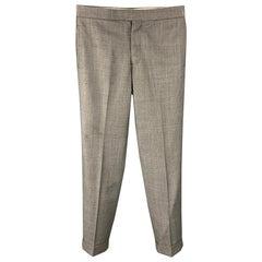 BLACK FLEECE Size 32 Grey Heather Wool Button Fly Dress Pants