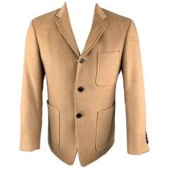 BLACK FLEECE Size 38 Tan Camel Hair Notch Lapel Sport Coat