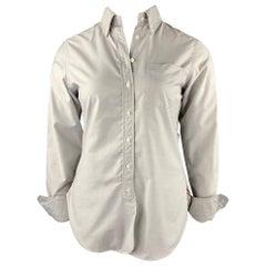 BLACK FLEECE Size L Light Gray Cotton Button Down Shirt