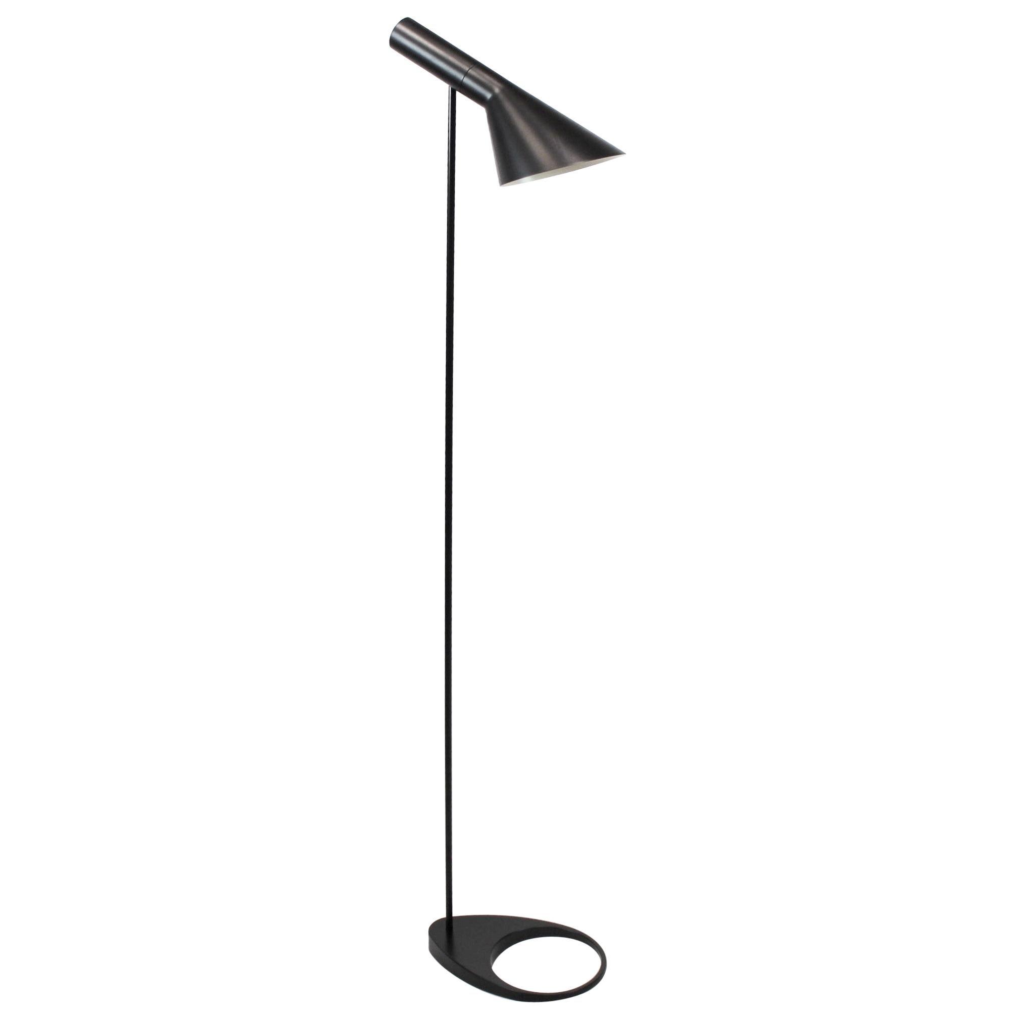 Black Floor Lamp by Arne Jacobsen and Louis Poulsen