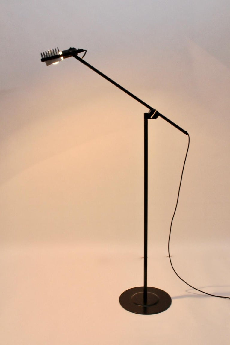 Black Floor Lamp by Ernesto Gismondi 1970 for Artemide Italy Metal, Plastic In Good Condition For Sale In Vienna, AT
