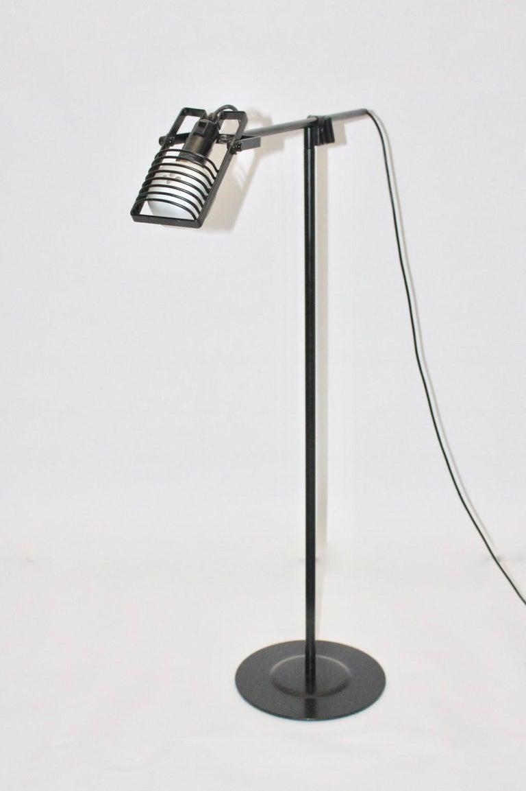 Late 20th Century Black Floor Lamp by Ernesto Gismondi 1970 for Artemide Italy Metal, Plastic For Sale