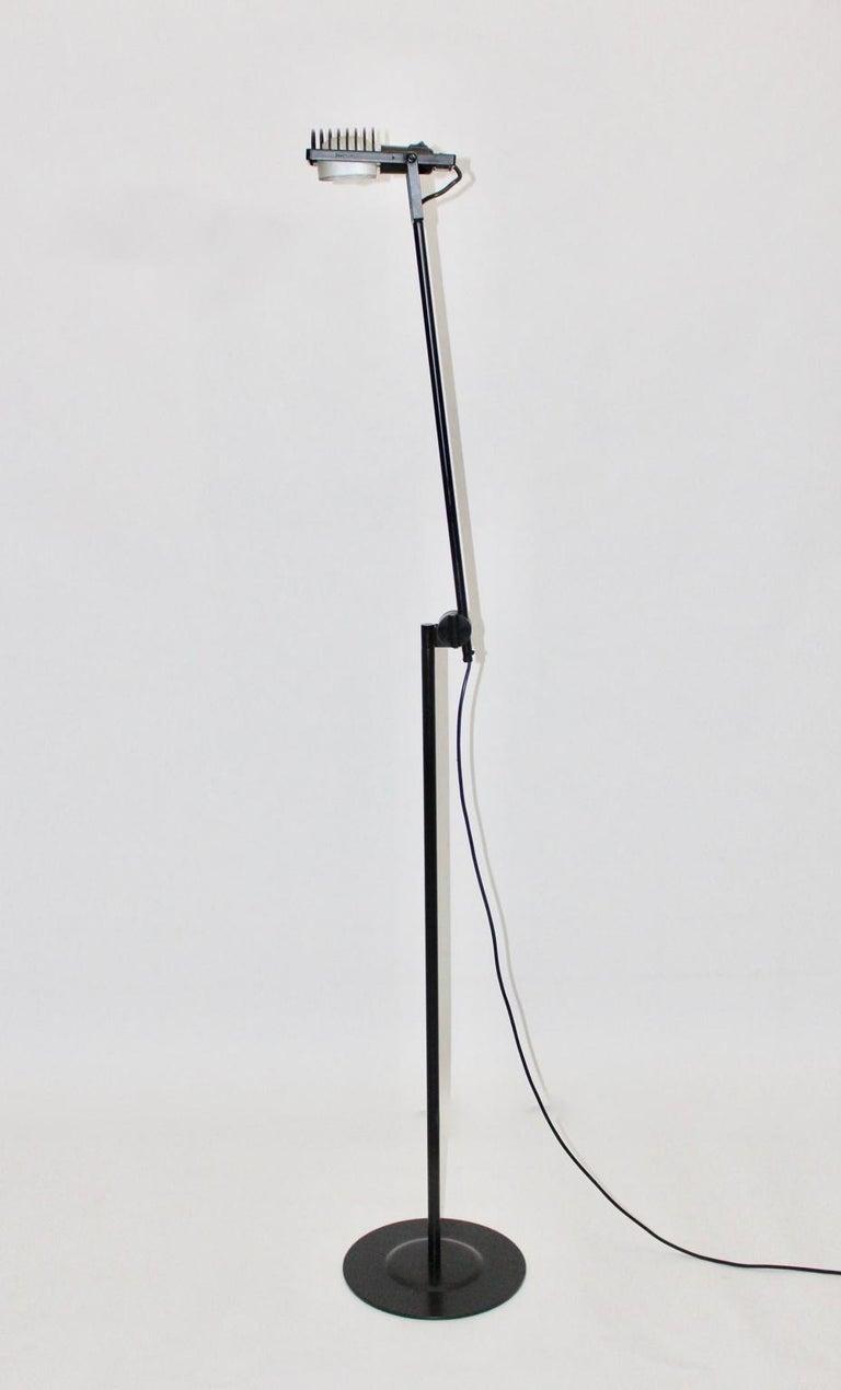 Black Floor Lamp by Ernesto Gismondi 1970 for Artemide Italy Metal, Plastic For Sale 1