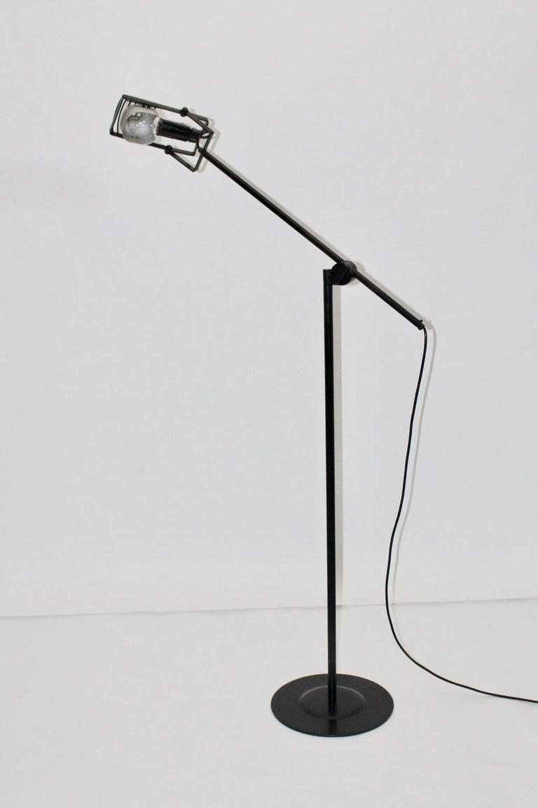 Black Floor Lamp by Ernesto Gismondi 1970 for Artemide Italy Metal, Plastic For Sale 2