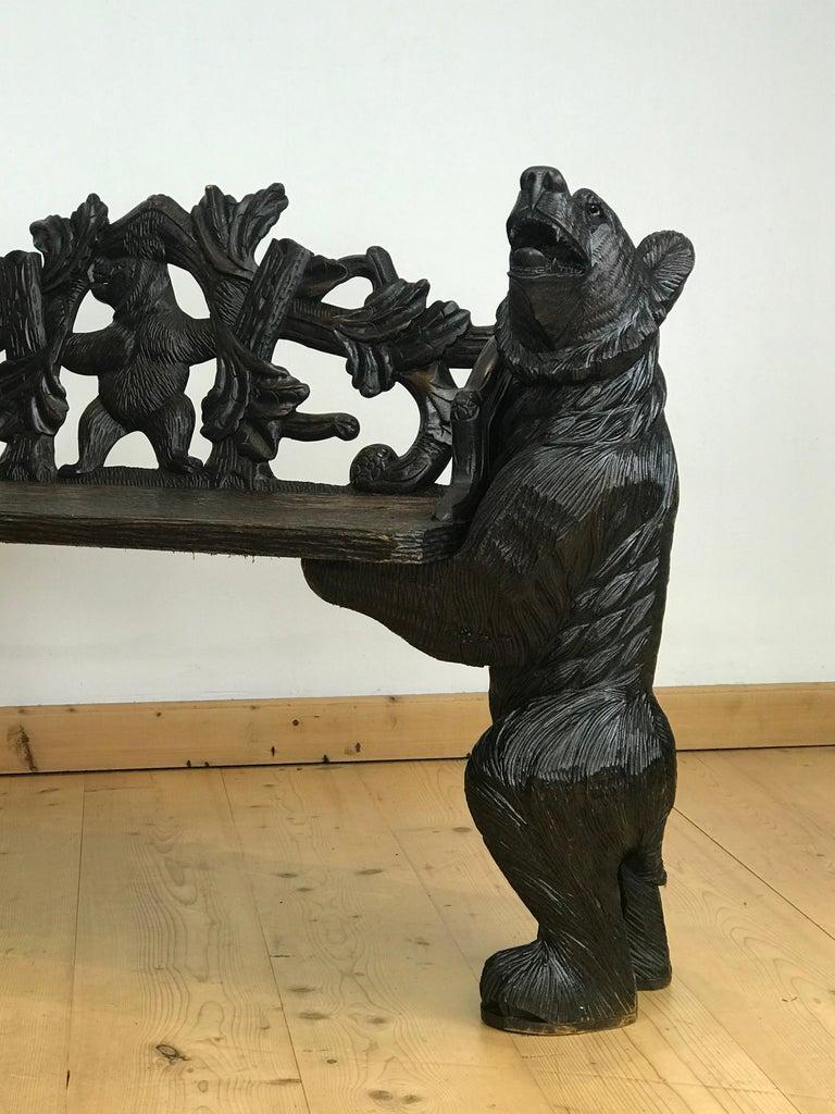 Black Forest Bear Bench, 20th Century 5