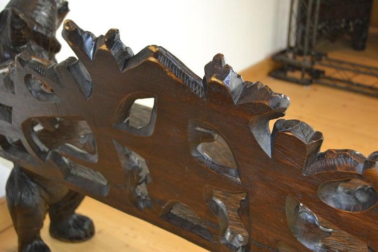 Black Forest Bear Bench, 20th Century 14