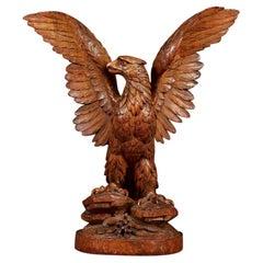 Black Forest Carved American Bald Eagle