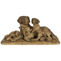 'Black Forest' Carved Dog Group