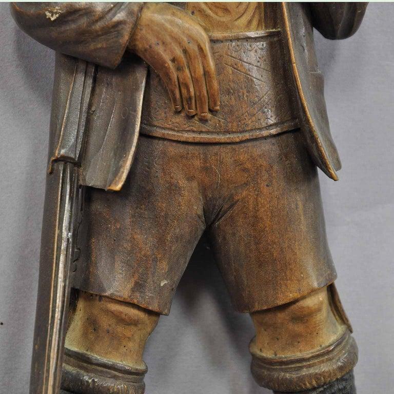 Handgeschnitzte Jäger-Figur als Peitschenhalter, Brienz, um 1890 4