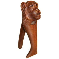 Black Forest Carved Monkey Novelty Nut Cracker