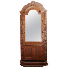 Black Forest Carved Oak Hall Stand, circa 1890