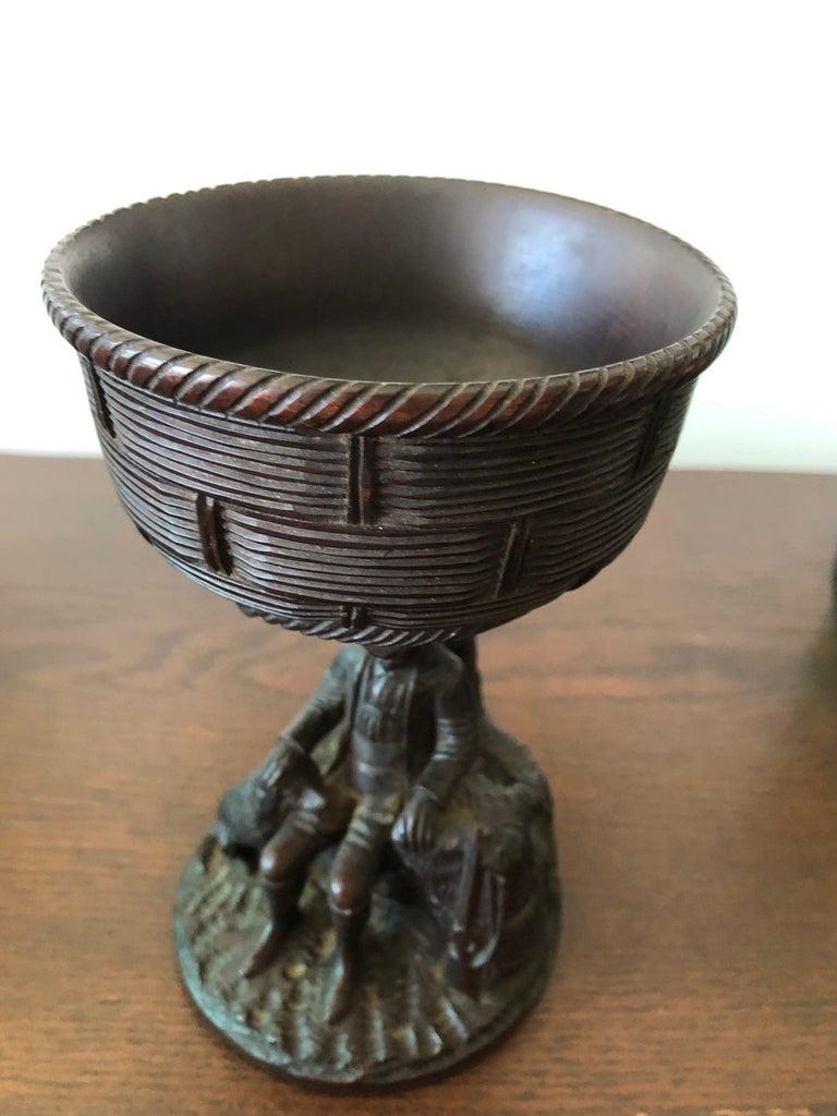 Black Forest Carved Walnut Hunting Presentation Cup For Sale 5